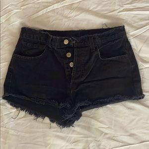 Black denim vintage jean shorts